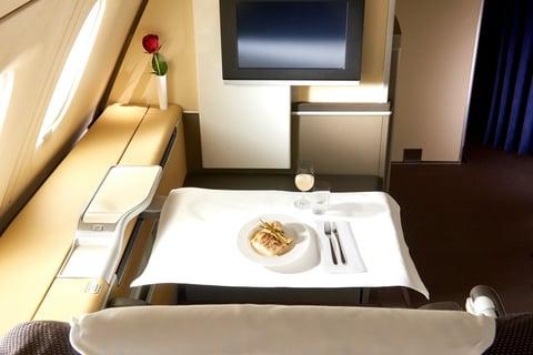 viaggi d'affari pasti a bordo