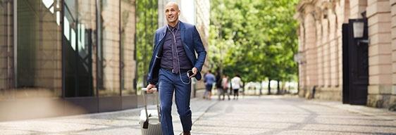 bagaglio a mano per trasferta di lavoro