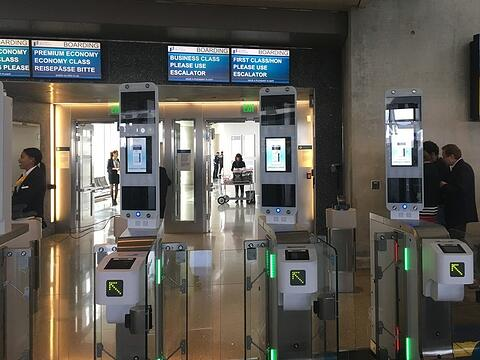 boarding biometrico aeroporto LAX